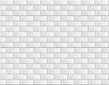 Seamless Vector White Brick Wall - Background Pattern Stock Images - 40072804