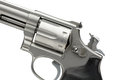 Stainless 357 Magnum Revolver Cocked On White Royalty Free Stock Image - 40084586