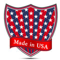 Glossy Label Made In USA. Royalty Free Stock Photo - 40084835