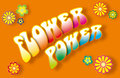 Flower Power Lettering Royalty Free Stock Photos - 40086178