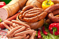 Variety Of Sausage Products. Stock Images - 40101964
