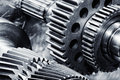 Titanium And Steel Gears In Action Royalty Free Stock Photos - 40102018
