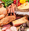 Variety Of Sausage Products. Stock Photography - 40102142