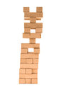 Jenga Tower With Missing Pieces On A White Stock Photography - 40102542