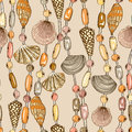 Seamless Pattern Of Seashell Jewelry Royalty Free Stock Images - 40103049