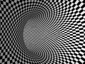 Black And White Stripes Projection On Torus. Stock Photo - 40106470