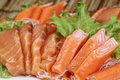 Close Up Fresh Salmon Sashimi Set Stock Photography - 40115712