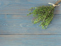 Fresh Bundle Of Thyme Stock Images - 40135334