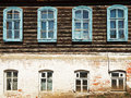 Wall Of Old Russian Urban Wooden House Stock Photography - 40138212