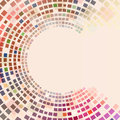 Circular Colorful Squares Stock Photography - 40143882