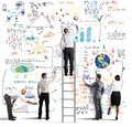 Business Team Drawing A New Project Royalty Free Stock Images - 40157019