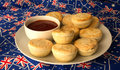 Plate Of Traditional Australian Meat Pies And Tomato Sauce. Stock Photos - 40157653