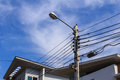 Electric Post Royalty Free Stock Image - 40159086