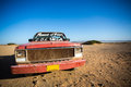 Car Wreck On The Beach Of El Cabo De La Vela Royalty Free Stock Image - 40166506