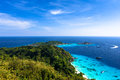 Aerial View Of A Beach From Viewpoint Of Similan Island Stock Photos - 40182553