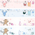 Babies Banners Royalty Free Stock Photography - 40192697