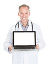 Doctor Showing Laptop Royalty Free Stock Photo - 40194795