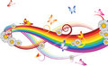 Rainbow With Flowers  Royalty Free Stock Images - 4024509