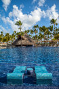 Tropical Resort Swimming Pool In Punta Cana Royalty Free Stock Photos - 40207668