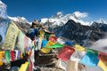View Of Everest From Gokyo Ri With Prayer Flags Stock Photo - 40221320