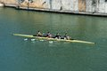 Rowers On The River, Seville, Spain. Royalty Free Stock Photos - 40225188