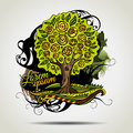 Abstract Vector Grunge Decorative Tree. Royalty Free Stock Photo - 40226065
