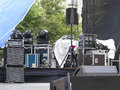 Powerfull Concerto Audio Speakers ,amplifiers ,spotlights, Stage Royalty Free Stock Photo - 40230065