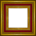 Picture Frame Gold Wood Frame Royalty Free Stock Photos - 40231178