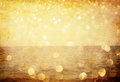 White Silver And Gold Abstract Bokeh Lights. Defocused Background Stock Photos - 40235083