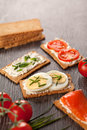 Tasty Canapes Breakfast Snack Meal Stock Photo - 40235830