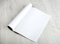 Open Magazine With Blank Pages Stock Photo - 40235870
