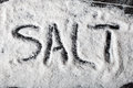 Dark Salt Abstract Background With  Salt  Word Stock Image - 40236011