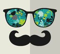 Retro Sunglasses With Reflection For Hipster. Royalty Free Stock Image - 40236396