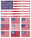 Abstract Scribble Background Usa Flag Set Royalty Free Stock Images - 40237399
