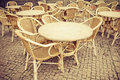 Coffee Terrace With Tables And Chairs Stock Photo - 40239700
