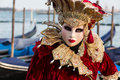 Woman With Beautiful Costume On Venetian Carnival 2014, Venice, Italy Stock Images - 40239714