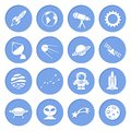 Space And Astronomy Icons Stock Photos - 40244843