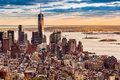 Lower Manhattan At Sunset Stock Image - 40249151