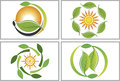 Eco Leaf Collection Logos Royalty Free Stock Image - 40249676