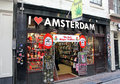 Coffee Shop In Red Light District At Amsterdam, Netherlands Royalty Free Stock Photos - 40251948