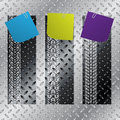 Industrial Label Set With Tire Treads Stock Image - 40255261