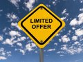 Limited Offer Yellow Highway Sign Stock Photos - 40258063