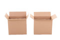 Open Brown Corrugated Cardboard Boxes Over White Stock Photo - 40258190