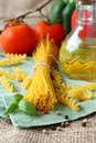Uncooked Gluten Free Pasta From Blend Of Corn And Rice Flour Royalty Free Stock Photo - 40258255