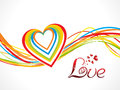 Abstract Colorful Love Wave Background Royalty Free Stock Photo - 40259545