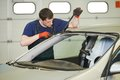 Windshield Windscreen Replacement Works Stock Image - 40288841