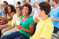 Spectators In Team Colors Watching Sports Event Stock Image - 40297041
