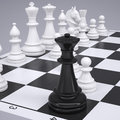 Chess On The Chessboard Royalty Free Stock Image - 40299956