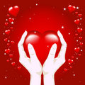 Heart In Hands Stock Images - 4039574