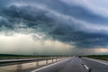Highway And Storm Sky Royalty Free Stock Photography - 40339837